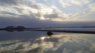 """Photo of سيوة """"الطريق الأوسط"""" جسر البحيرات الممتد لكنوز الملح الأبيض"""