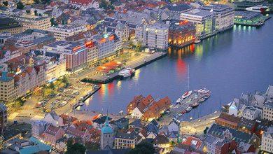 السياحية في مدينة بيرغن النرويجية